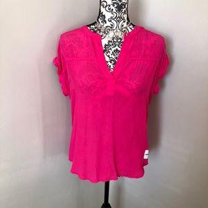 NWT Calvin Klein Pink Blouse